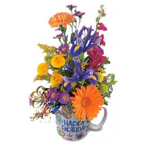 Birthday Flowers in a mug B75