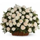 white and creme roses arrangement.SB34